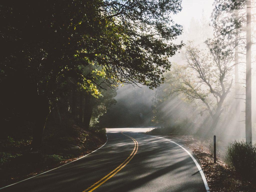 Una curva en una carretera
