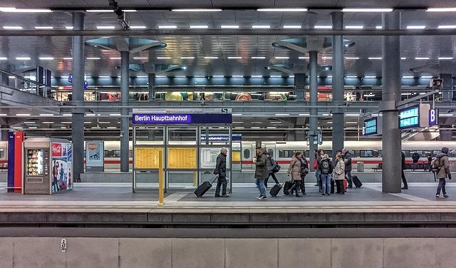 Estación de tren en Berlin