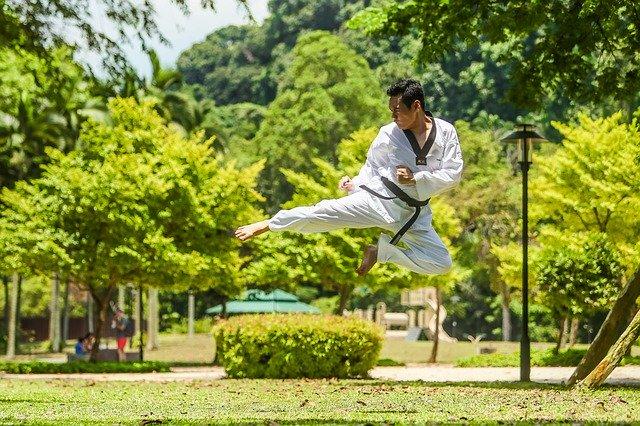 Artes marciales en el parque