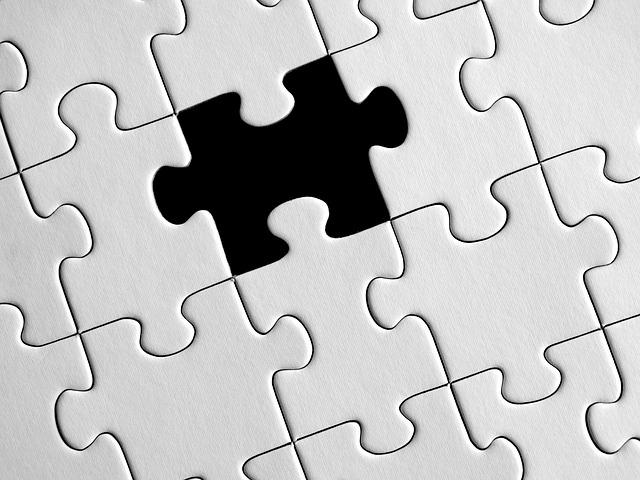 Puzzle blanco y negro
