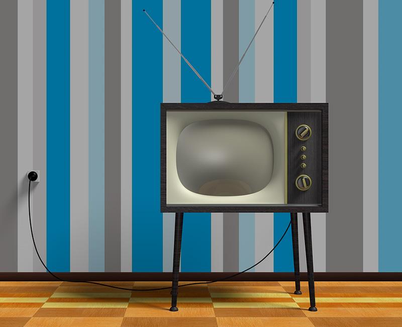 Imagen de televisor retro